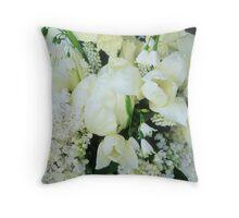 White Garden, April #4 Throw Pillow