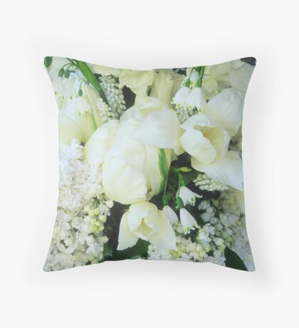 White Garden, April #4 Throw Pillow