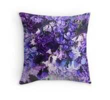 March Heirloom Blues #3 Bouquet Throw Pillow