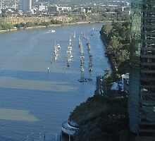 Boats at Gardens Point by STHogan