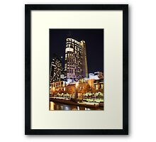Melbourne Crown Casino by night Framed Print