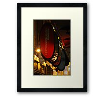 Melbourne DeGrave's Lane by night Framed Print