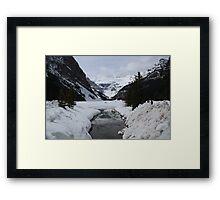 Lake Louise Snowed In Framed Print