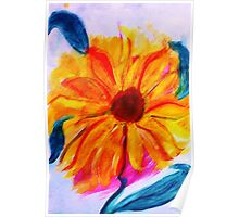 The Sunflower, watercolor Poster