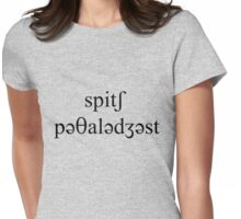 Speech Pathologist Womens Fitted T-Shirt