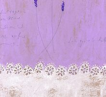 A small bunch of lavender with deep lace edge by Tine  Wiggens
