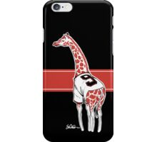 Belt Giraffe (Black) iPhone Case/Skin