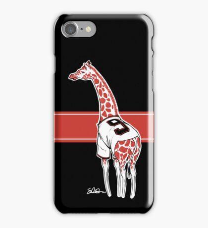 Belt Giraffe (Black) iPhone Case/Skin