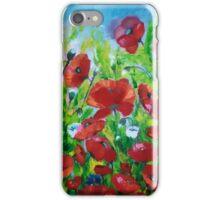 Field of popies iPhone Case/Skin