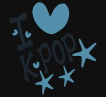 I loveKPOP txt hearts stars vector graphic art  by cheeckymonkey