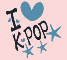 I loveKPOP txt hearts stars vector graphic art  Kids Clothes