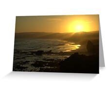 Misty Sunset Greeting Card