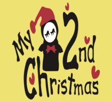 My 2nd Christmas penguin vector art  Baby Tee