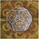 Dodecahedron- Panel 3 in Platonic Solids series by Donna Raymond