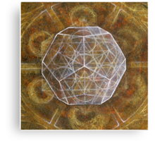 Dodecahedron- Panel 3 in Platonic Solids series Canvas Print