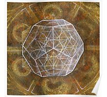 Dodecahedron- Panel 3 in Platonic Solids series Poster