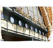 Flinders Street Station clocks Poster