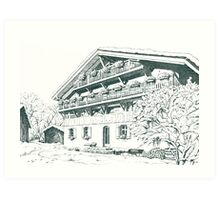 Chalet, French Alps Art Print