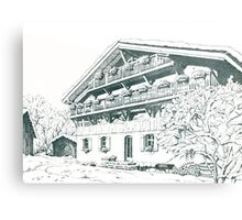 Chalet, French Alps Metal Print
