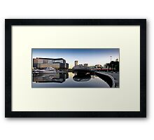 Docklands Reflections Framed Print