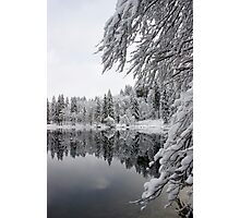 Wintery reflections Photographic Print