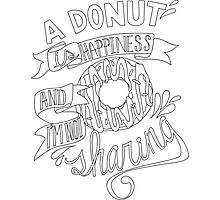 I'm not sharing - handlettering Photographic Print