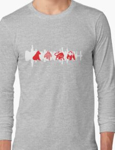 Chicago Flag with Teams and Skyline 2 Long Sleeve T-Shirt