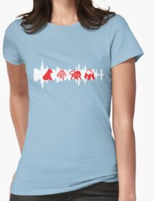 Chicago Flag with Teams and Skyline 2 Womens Fitted T-Shirt