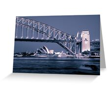 Sydney in Blue Pink Greeting Card