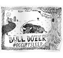 Occupy Sleep editorial cartoon Poster