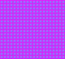 Squares - Cyan + Pink Border by cmmei