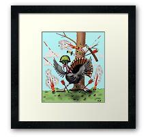 Funny Thanksgiving turkey drawing Framed Print
