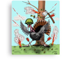 Funny Thanksgiving turkey drawing Canvas Print