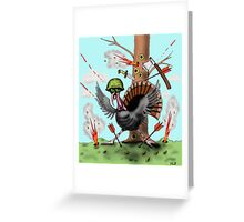 Funny Thanksgiving turkey drawing Greeting Card