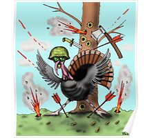 Funny Thanksgiving turkey drawing Poster