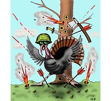 Funny Thanksgiving turkey drawing Photographic Print