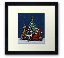 Funny Christmas Drinking Party drawing Framed Print
