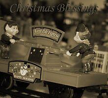 Christmas Blessings -  Santa's Elves by anneisabella