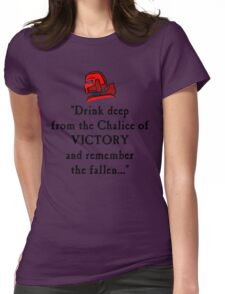 BloodQuote Womens Fitted T-Shirt