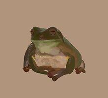 Green Tree Frog by Brinjen