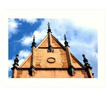 Old medieval town architecture details from Romania Art Print