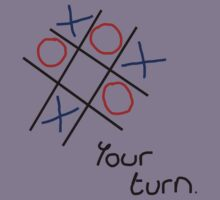 Noughts & Crosses (Tic-tac-toe) (Black Text) Kids Tee
