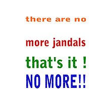 no more jandals by Sandra McNabb