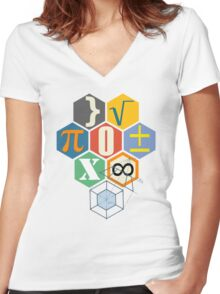 Math in black! Women's Fitted V-Neck T-Shirt
