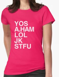 Your Obedient Servant, A.Ham Womens Fitted T-Shirt
