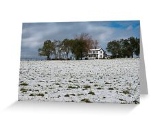 October Snow Greeting Card