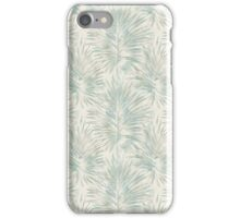 Vintage green blue palm trees pattern iPhone Case/Skin