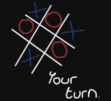 Noughts & Crosses (Tic-tac-toe) (White Text) by Paul James Farr