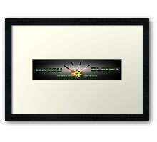 """Bayou Blades"" Logo v2.0 Framed Print"