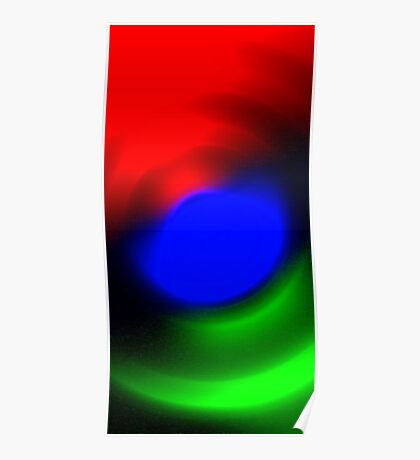 Three Colours // Red, Green, Blue Poster